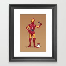 Iron Droid Framed Art Print