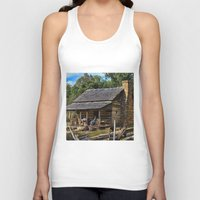 tennessee Tank Tops featuring Tennessee Mountain Home by Exquisite Photography by Lanis Rossi