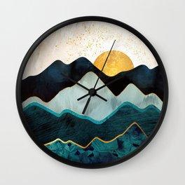 Glacial Hills Wall Clock