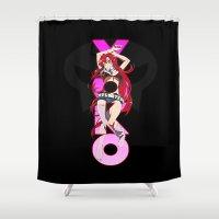 gurren lagann Shower Curtains featuring Yoko Littner  by feimyconcepts05