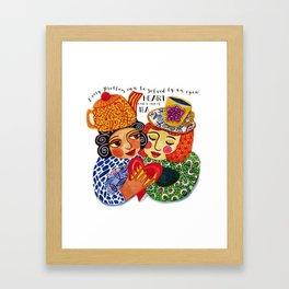 Tea and Love and Friendship Framed Art Print