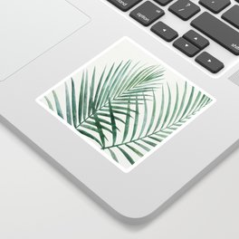 Emerald Palm Fronds Watercolor Sticker
