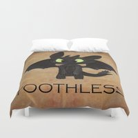 toothless Duvet Covers featuring Toothless  by Walko