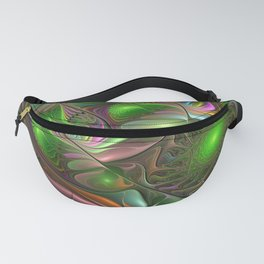 Colorful and Luminous, Abstract Fractal Art Fanny Pack