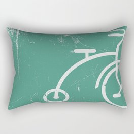 Grunge bicycle Rectangular Pillow