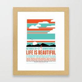 Life Is Beautiful Fest x Learning Framed Art Print