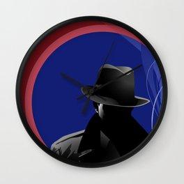 Smoking Detective Wall Clock