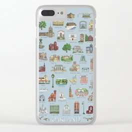 Oakland Landmarks Clear iPhone Case
