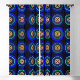 6x6 004 - blue abstract geometric pattern Blackout Curtain