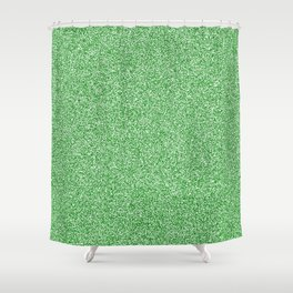 Melange - White and Green Shower Curtain
