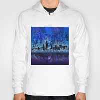 chicago Hoodies featuring chicago by Bekim ART