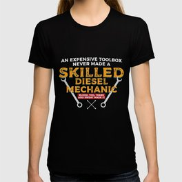 Skilled Diesel Mechanic design | Engine Motorhead Auto Tee T-shirt