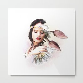Miss Sprout - BeFlower Metal Print
