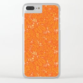 Nectarine Citrus - Playful Abstract Shapes_003 Clear iPhone Case
