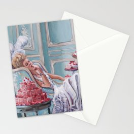 Marie Antoinette Eats Cake Stationery Cards