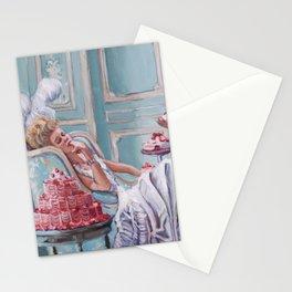 Marie Antoinette Eats Cake Stationery Cards