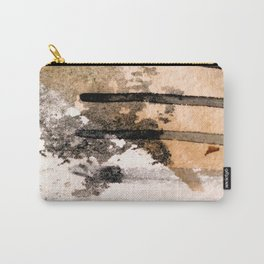 Desert Musings - a watercolor and ink abstract in gray, brown, and black Carry-All Pouch