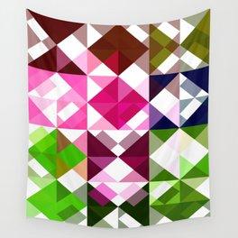 Rosas Moradas 1 Abstract Triangles 1 Wall Tapestry