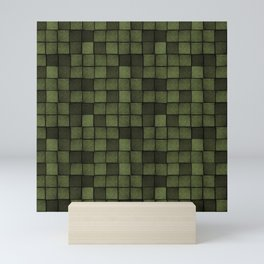 Wood Blocks-Olive Mini Art Print