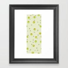 big bubbles - yellows Framed Art Print