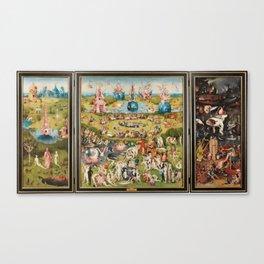 Tríptico del jardín de las delicias - El Bosco Canvas Print