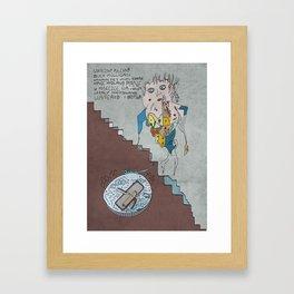 Stately, plump Buck Mulligan Framed Art Print