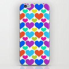 Bright hearts iPhone Skin