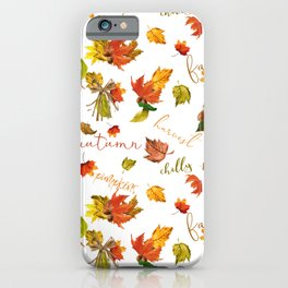 Autumn Leaves Hello Fall! iPhone Case