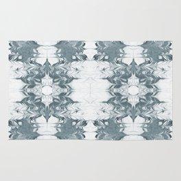 Haru - spilled ink modern abstract marble painting indigo ink splash swirl ocean waves water sea Rug
