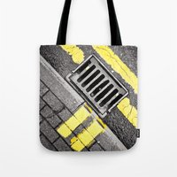grid Tote Bags featuring Grid by PRE Media