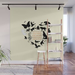Love of the Animals Typography Wall Mural
