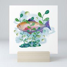 Watercolor fish Mini Art Print