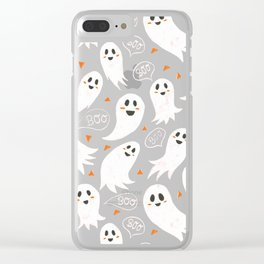 Friendly Ghosts in Pink Clear iPhone Case