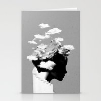 hat Stationery Cards featuring It's a cloudy day by Robert Farkas