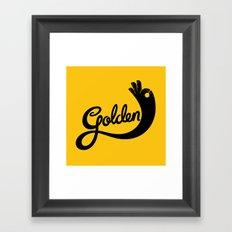 Golden! Framed Art Print