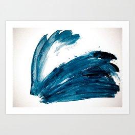 Bunny Blue Art Print