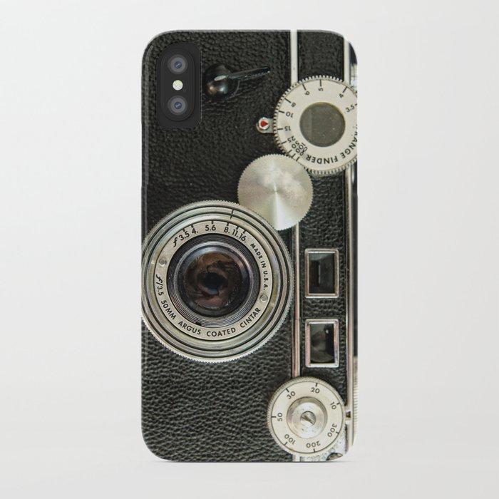 Vintage Range finder camera. iPhone Case
