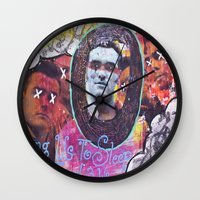 smiths Wall Clocks featuring Art is Murder//The Smiths by Art By MOP$