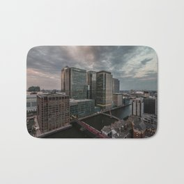 London, Canary Wharf from above Bath Mat