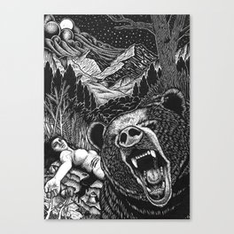 Edward Lear Illustration Canvas Print