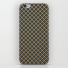 Smal black, white and gold dots pattern iPhone Skin