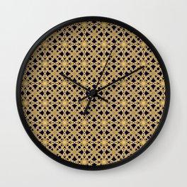 Gold and Black Islamic Edition Geometric Pattern Wall Clock