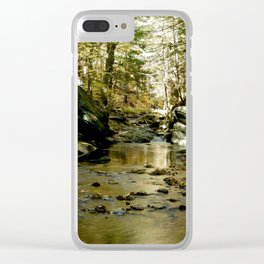 Cobb Brook Waterfall Clear iPhone Case