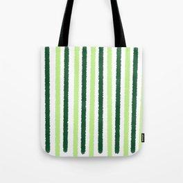 Green Color Stripes Tote Bag