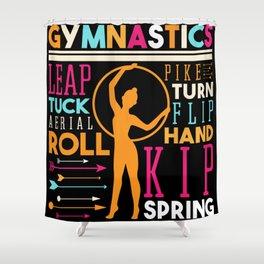 Gymnastics Leap Tuck Aerial Roll Pike Shower Curtain