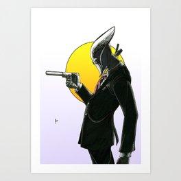 Robot Assassin, Color Art Print