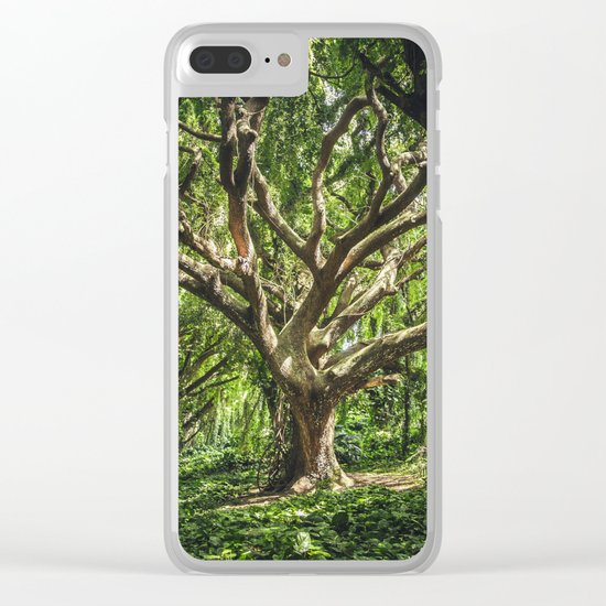 THE TREE Clear iPhone Case