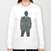 skyfall Long Sleeve T-shirts featuring Skyfall - James Bond: The Old Fashioned Way by Jon Naylor