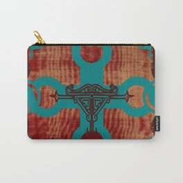 Rustic Turquoise Cross Carry-All Pouch