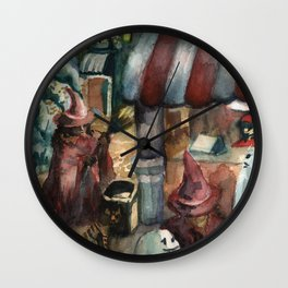 witches going to eat Wall Clock